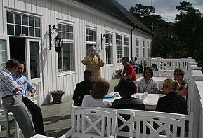 Samtaler på verandaen